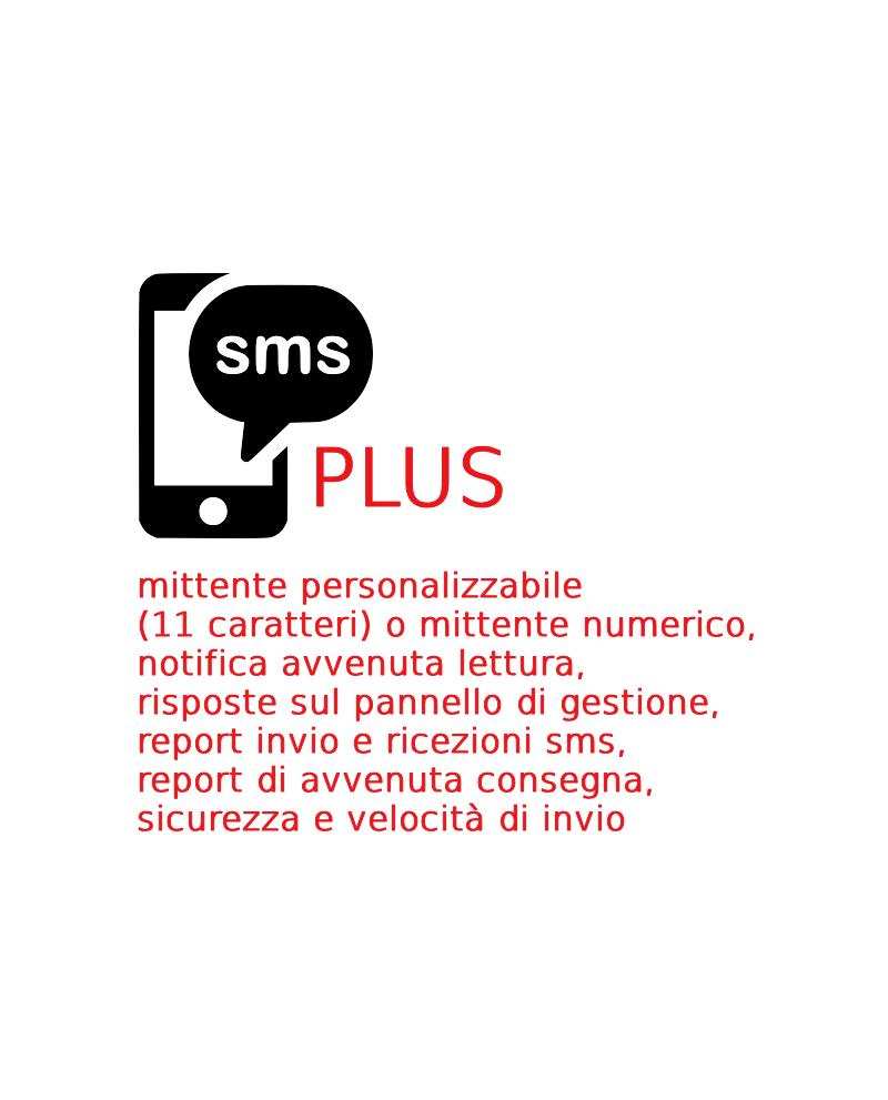 100 SMS PLUS da inviare, piattaforma Gustox SMS