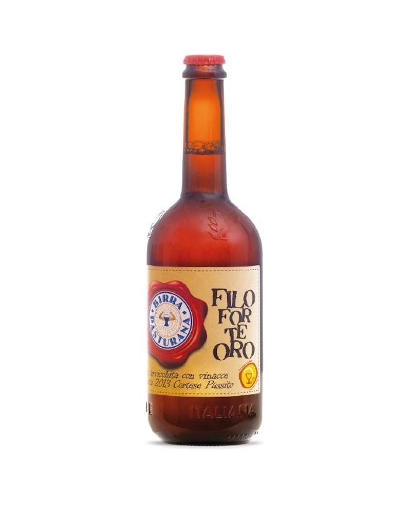 Birra Filo Forte Oro - birra arricchita con vinacce di passito - 75 cl - Birrificio Pasturana