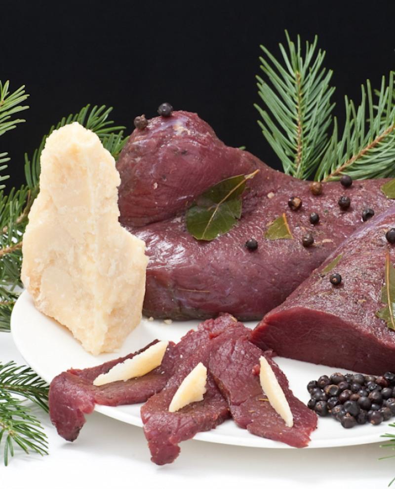 Carne salada-carpaccio di struzzo - Sottovuoto 1 kg - Trentina Struzzi Soc. Agricola