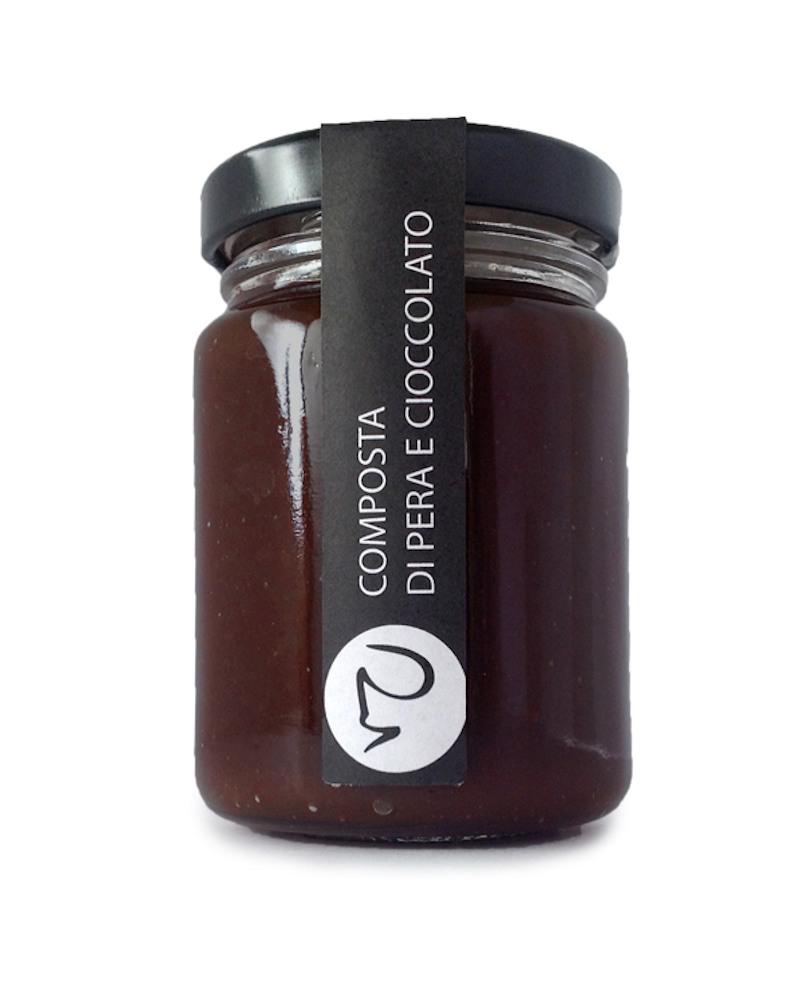 Composta di pera e cioccolato condimento 106 gr - Primitivizia