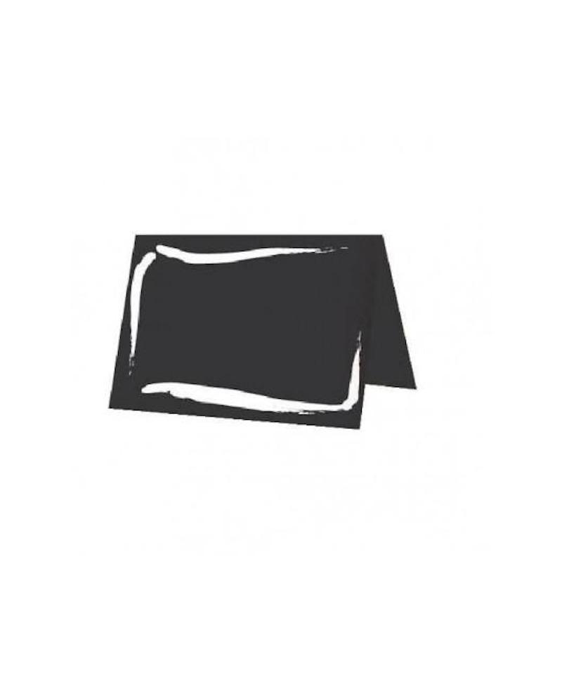 ETICHETTA CAVALLETTO NERO ARDESIA largh. 7 x 5 cm Pack da n. 10 pezzi - RET