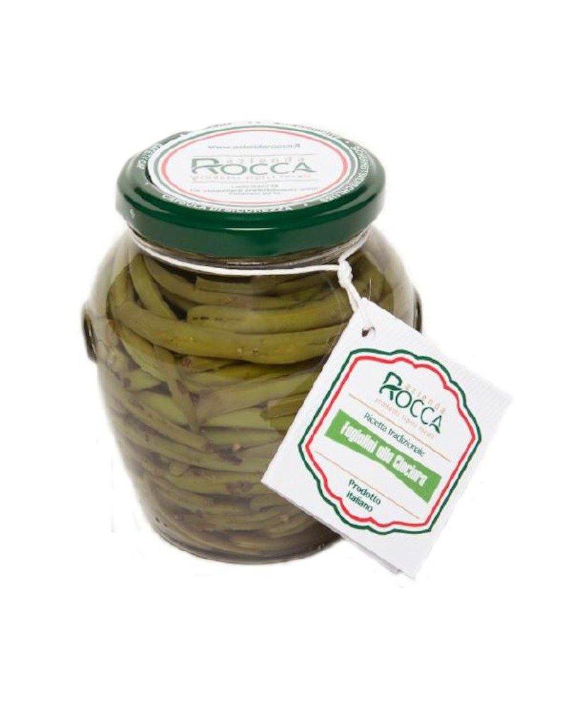 Fagiolini alla Ciociara - Vaso Cilindrico 265 g - Azienda Rocca