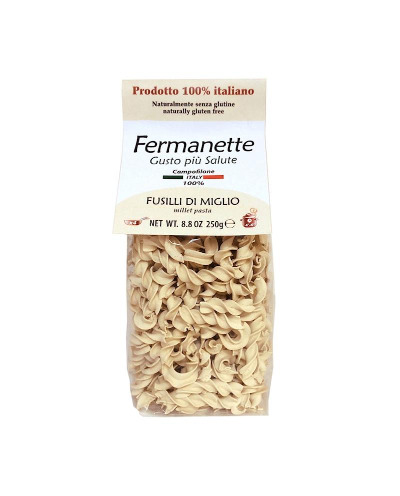 Fusilli di miglio Fermanette - Pasta corta - senza glutine - 250g - Pastificio Marcozzi