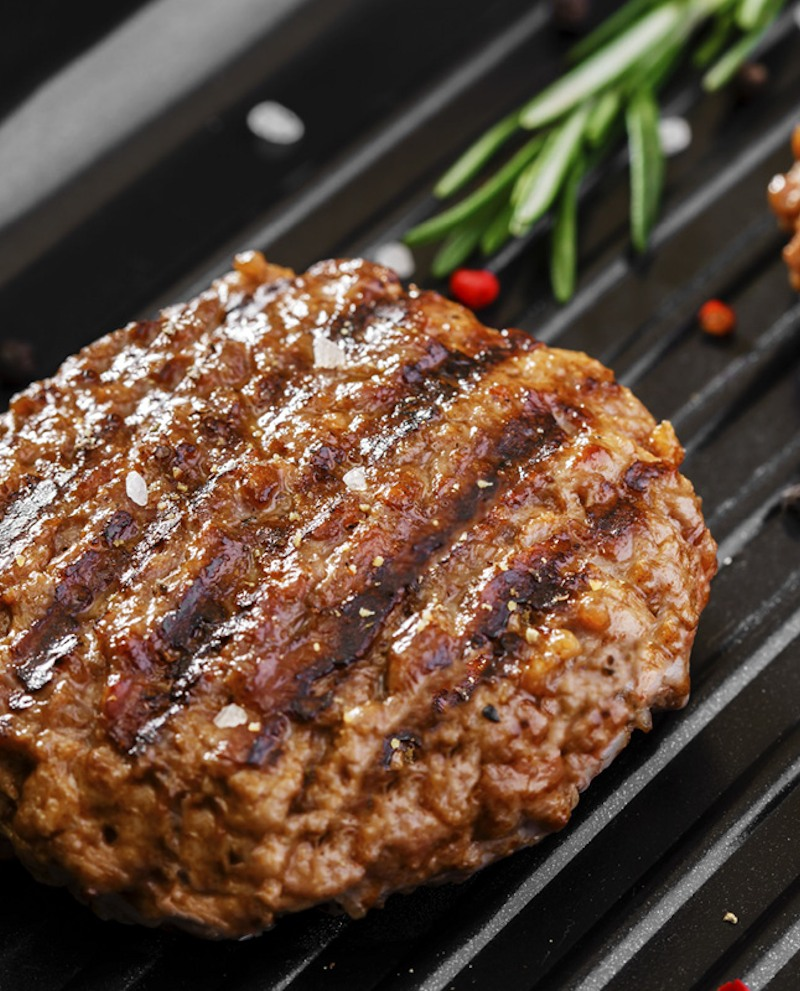 Hamburger 100% struzzo 1,35 kg - n.6 conf. da 2 pezzi cadauna sottovuoto - Trentina Struzzi Soc. Agricola