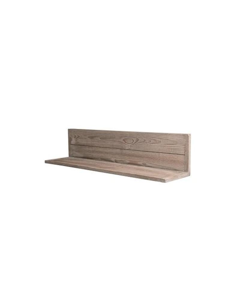 MENSOLA A MURO HÉRITAGE legno invecchiato lungh. 90 x prof. 20 x alt. 20 cm - RET Mobili in legno