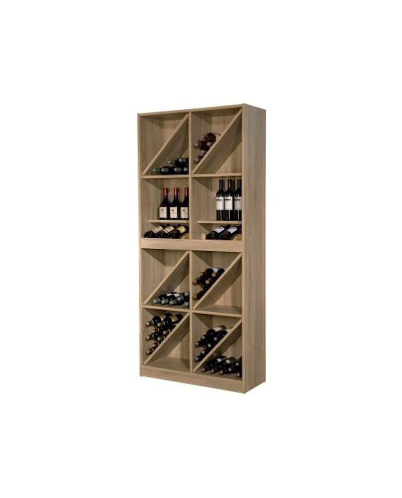MOBILE ALTO 6/12 SCOMPARTI VINNO colore quercia autentica   lungh. 90 x prof. 35 x alt. 200 cm - RET Mobili in legno
