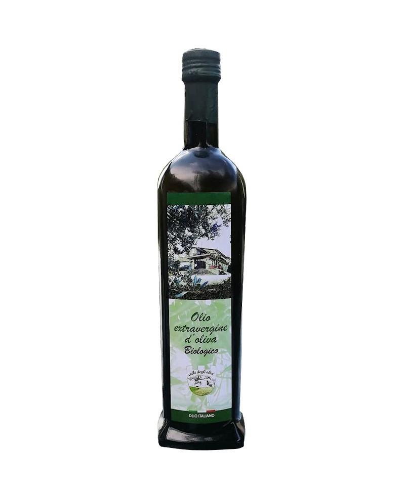 Olio extra vergine di oliva Biologico Italiano – Bottiglia da 750 ml – pacco da 12 bottiglie - Colle degli Olivi