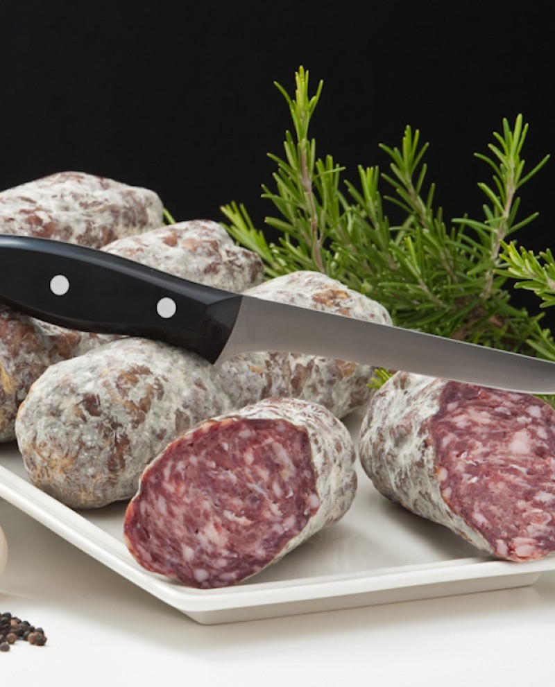 Salame di struzzo intero sfuso 2 kg - n.5 pezzi interi da 400g - Trentina Struzzi Soc. Agricola