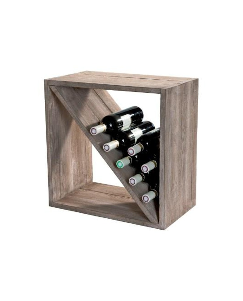 SCAFFALE BOTTIGLIE HÉRITAGE per 28 bottiglie  lungh. 52 x prof. 30 x alt. 52 cm - RET Mobili in legno
