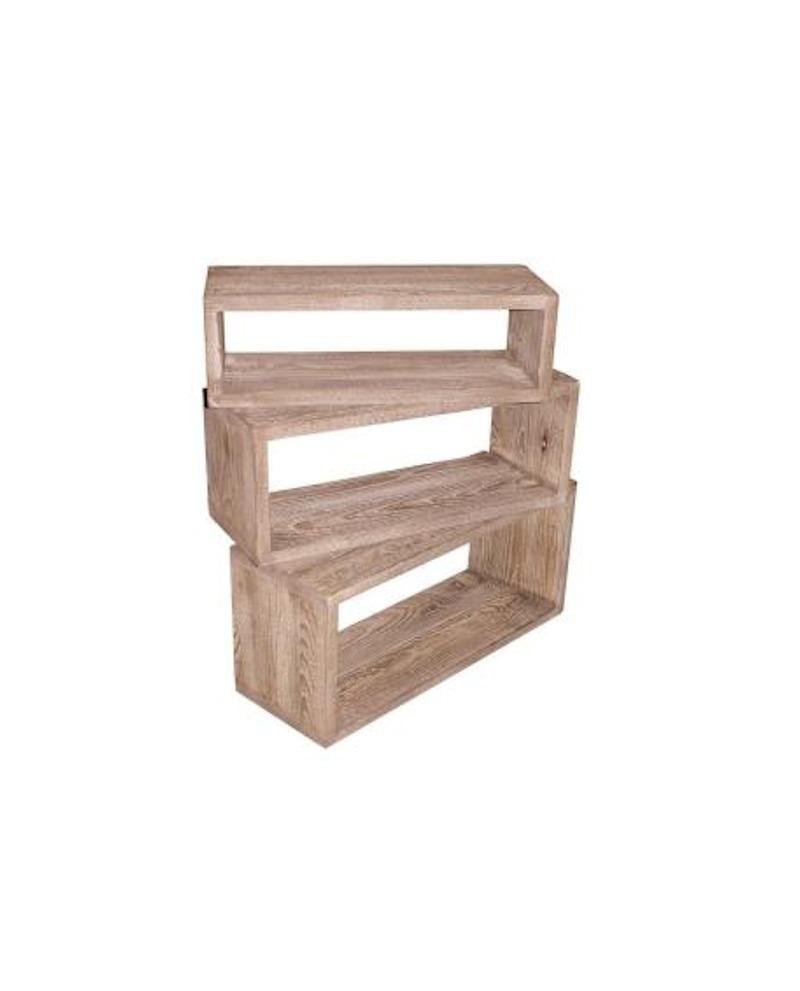 SET 3 CUBI HÉRITAGE 29x50+34x55+39x60 P19cm - RET Mobili in legno