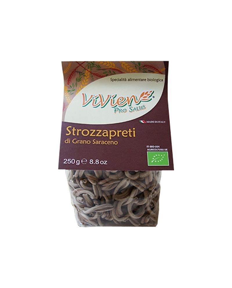 Strozzapreti grano saraceno ViVien Pro Salus - Pasta corta integrale biologica - Sacchetto da 250g - Pastificio Marcozzi