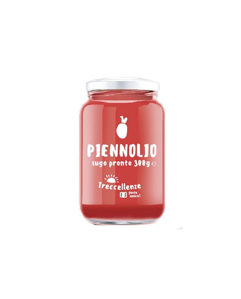Sugo pronto di Pomodorini del Piennolo del Vesuvio Dop con olio extra vergine di oliva del Cilento - Vaso da 300g - Treccellenze